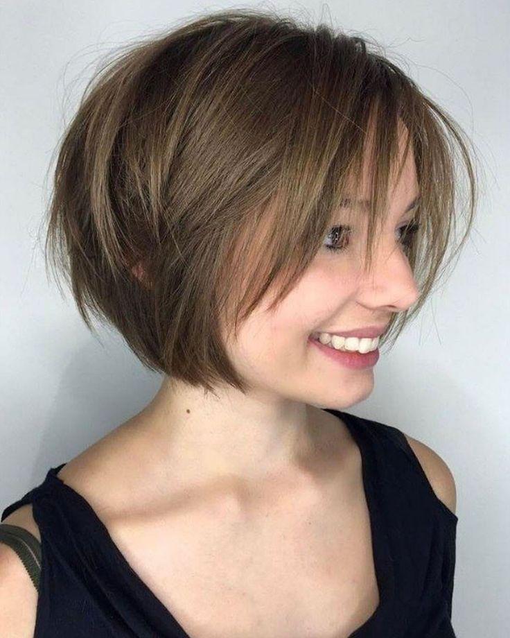 einfache bob frisuren stufig ideen | frisuren, bob frisur