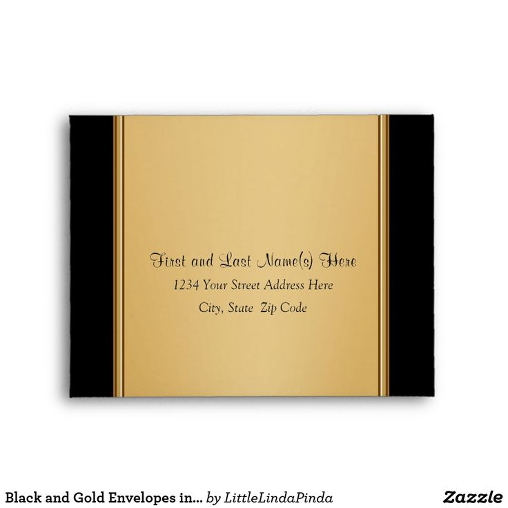 Black and Gold Envelopes, Anniversary, Birthday or Wedding Response Envelopes in Many Sizes, with or without YOUR TEXT. Click: https://www.zazzle.com/z/o07ep?rf=238147997806552929 Call Zazzle Designer Linda: 239-949-9090 to create matching RSVP cards, Different Size Anniversary Envelopes, Invitations for ANY OCCASION Personalized 50th Wedding Anniversary Party ideas, 50th anniversary supplies More HERE: http://www.zazzle.com/littlelindapinda/gifts?cg=196114898786828958&rf=238147997806552929
