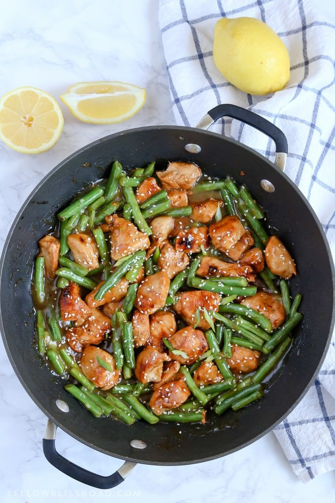 This Honey Lemon Chicken and Green Beans has a ton of flavor and can have dinner on the table in just 20 minutes!