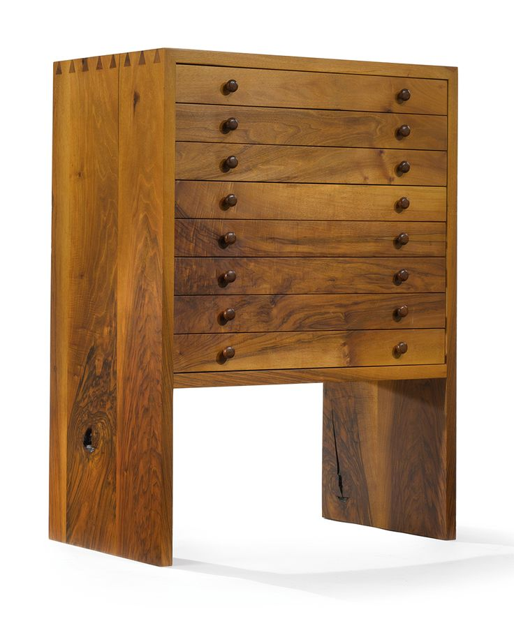George Nakashima | Unique Silver Cabinet, 1964, English walnut