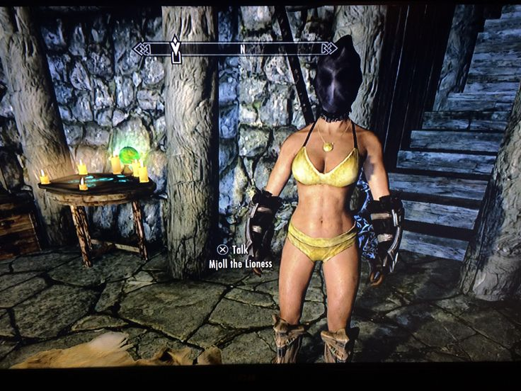 I gave Mjoll hooded Thalmor robes to hold onto and she decided to strip to her skivvies. (Apologies for the poor quality pic. Im playing on PS3 and took it with my cell phone) #games #Skyrim #elderscrolls #BE3 #gaming #videogames #Concours #NGC