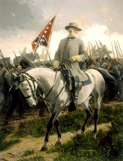 General Robert E. Lee on Traveller - love this painting!