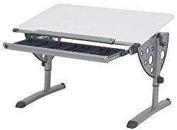 Kettler Logo Fun Desk, White/Silver