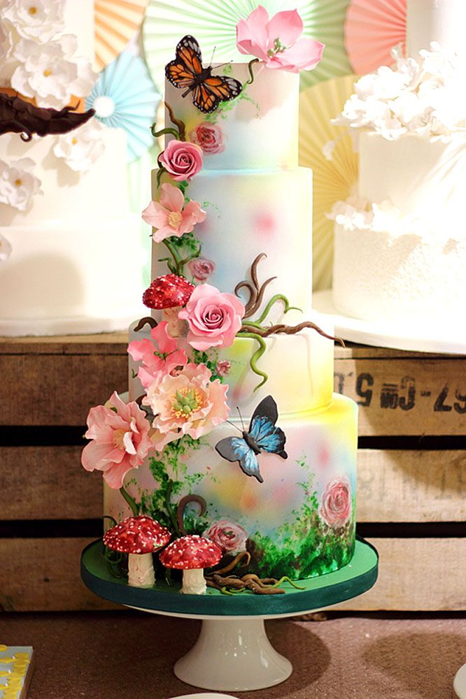 woodland forest themed wedding cakes 6