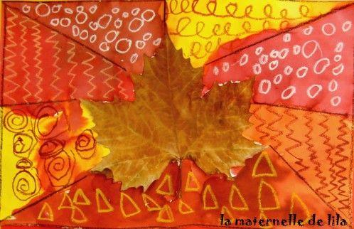 feuilles d'automne et graphismes décoratifs