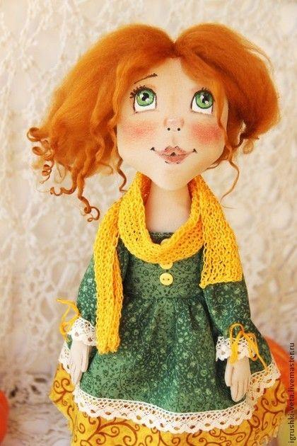 Текстильная кукла Рыжая Осень - рыжий,кукла ручной работы,кукла в подарок