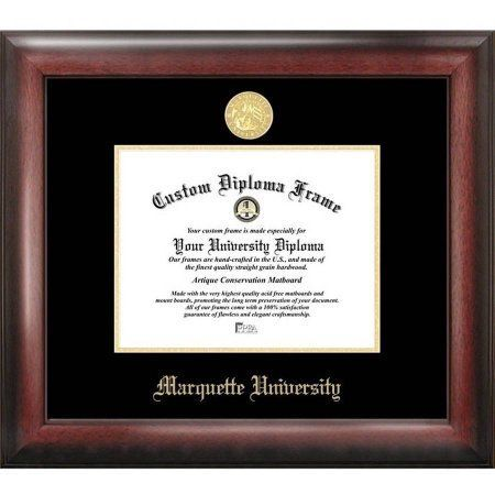 marquette university 9 inch x 12 inch gold embossed diploma frame