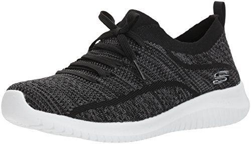 Skechers Sport Women S Ultra Flex Statements Sneaker Black Grey 8
