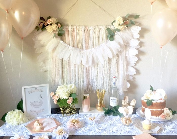 Whimsical Chic Swan Themed Birthday Party via Kara's Party Ideas - KarasPartyIdeas.com (5)
