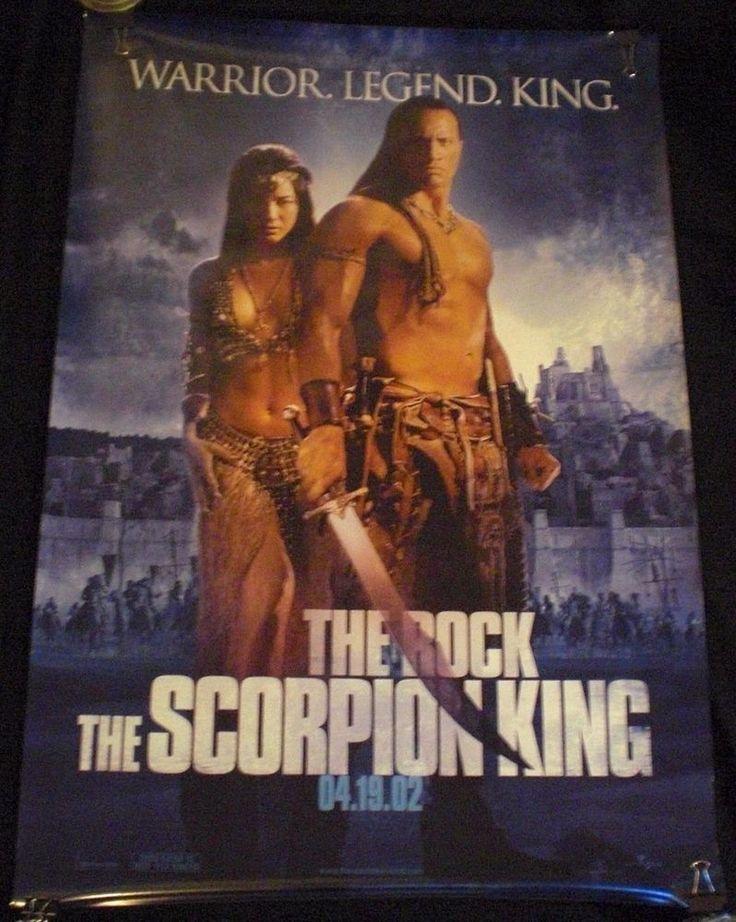 The Scorpion King Original Theater One Sheet Dwayne The Rock Johnson Kelly Hu