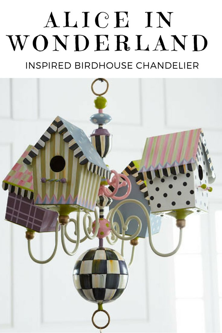 22 best vintage decoration images on pinterest alice in wonderland inspired birdhouse chandelier combines vibrant colour and pattern to create tradition with arubaitofo Choice Image