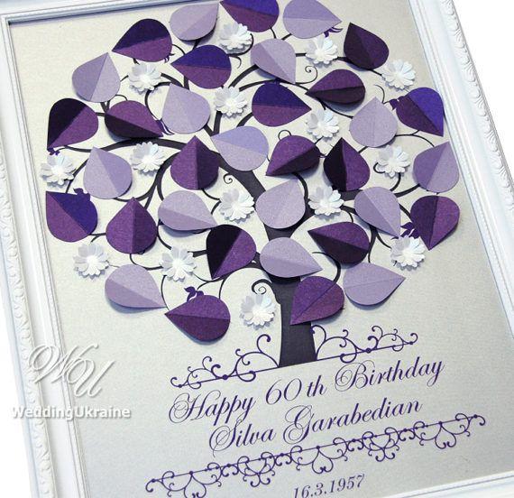 Anniversary or Birthday Guest Book idea  Modern by WeddingUkraine