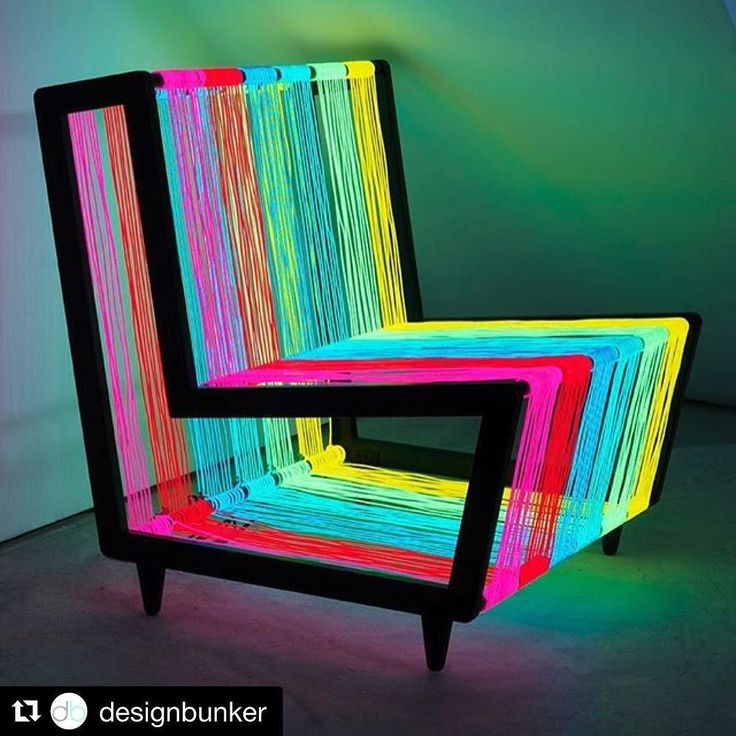 We adore this disco chair by Kiwi & Pom! #Repost of @designbunker . . .  Disco Chair by Kiwi & Pom which is constructed of a steel frame and 200 linear metres of electroluminescent wire which when turned on becomes a vibrant disco installation!