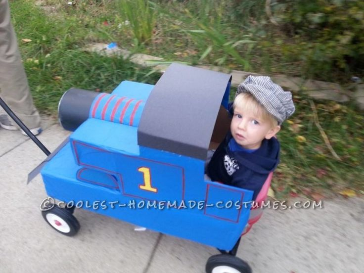 coolest diy thomas the train on a wagon costume toddler halloweenhalloween - Where To Buy Toddler Halloween Costumes
