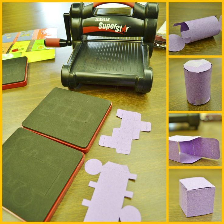 Create 3D Geometric Shapes for math teachers with #Ellison die cut machine.