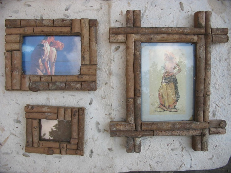 Hand made photo frame from Coffee Wood.
