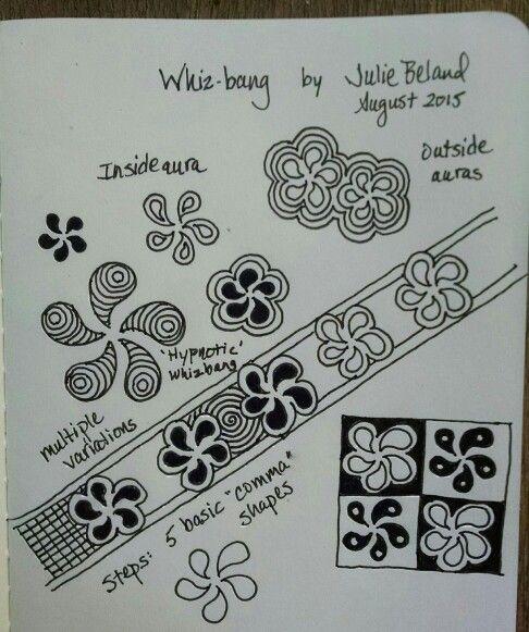 New tangle pattern, Whizbang. Julie Beland.