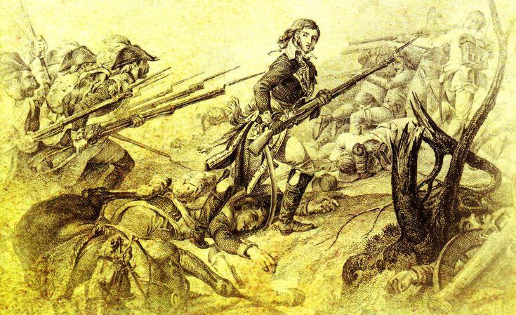 El general Joubert, con un fusil en la mano, lleva a sus tropas al asalto de las posiciones austriacas. Más en www.elgrancapitan.org/foro