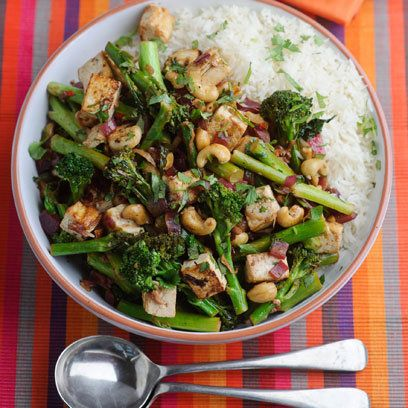 Levi Roots' broccoli, cashew and tofu stir fry If you're itching for a takeaway, try this healthy and crunchy stir-fry instead.