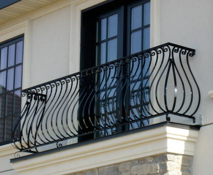 Landscaping And Outdoor Building , House Balcony Railing : Ornate Metal Balcony Railing