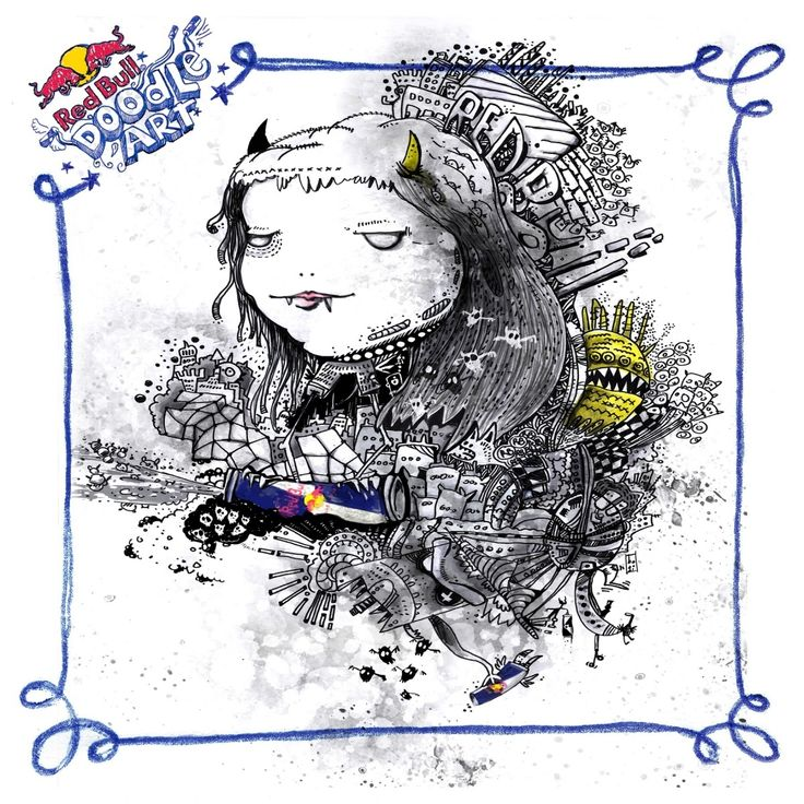 Red Bull Doodle Art giorgos mpougas