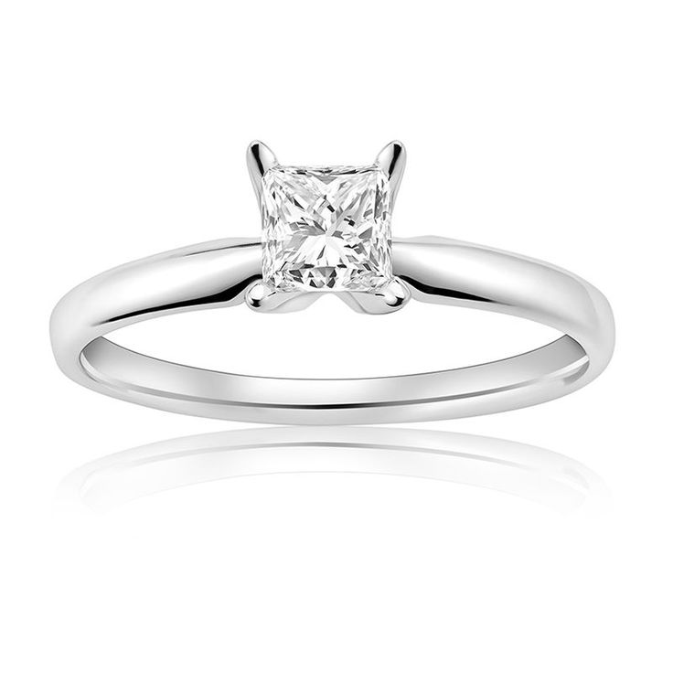 This Stunning Princess Cut 0 75 Total Carat Weight Canadian Ice Diamond Engagement Ring Is
