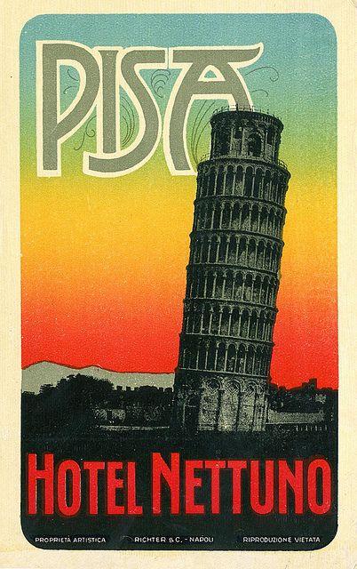 Vintage Italian Posters ~ #Italian #vintage #posters ~ Pisa