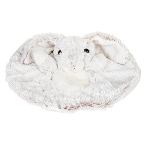 Histoire d'ours – Peluches et Doudous – Doudou plat Lapin – Blanc chiné marron – Collection : Studio – Peluche bébé 28 cm – Genre : fille…