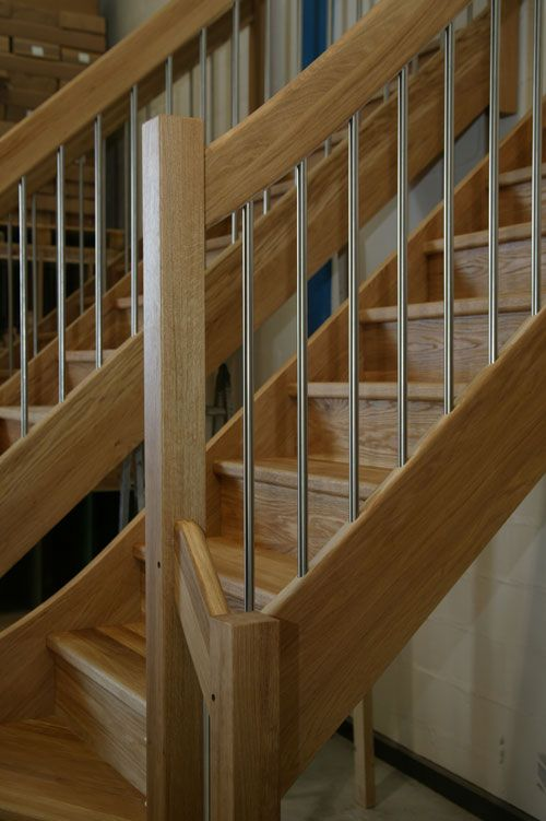 Oak With Stainless Steel Stainless Steel Staircase