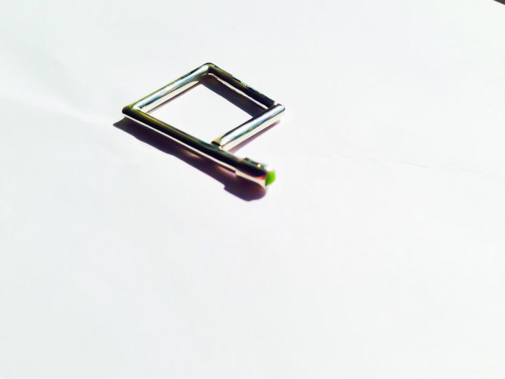 Geometric series ring: silver 925, green glass cabochon