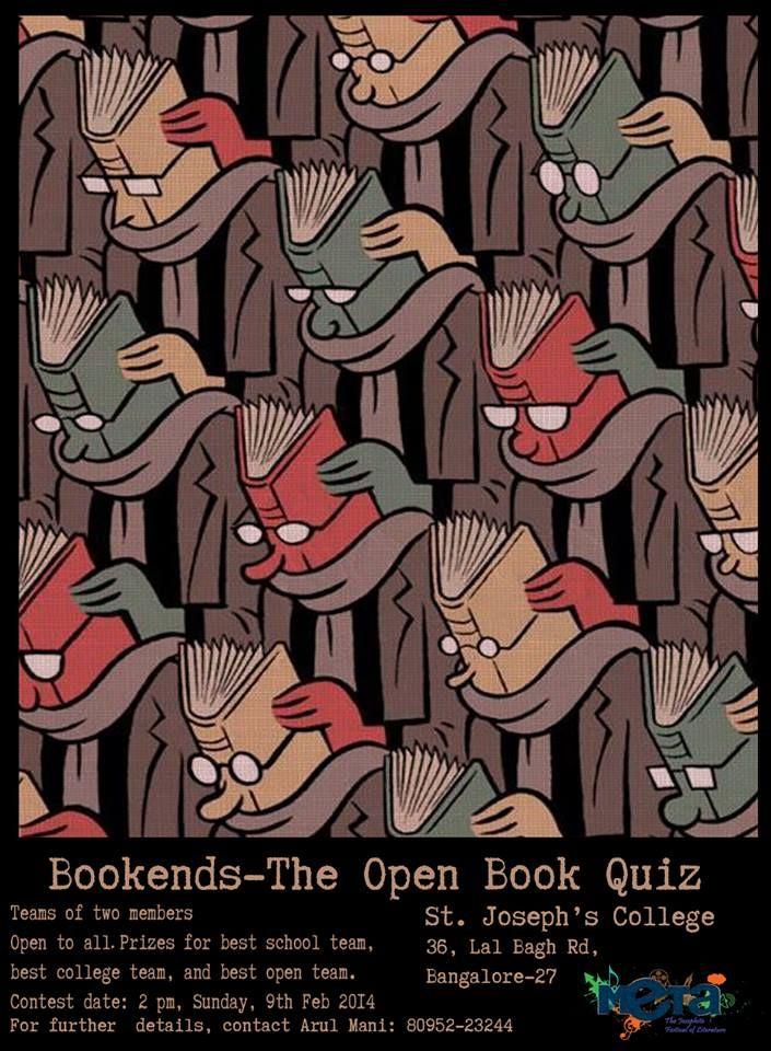 Bookends-open book quiz  Sunday 9th feb. 2pm