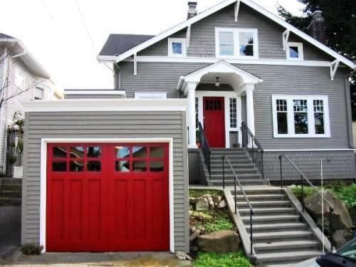 1000 ideas about Red Garage Door on Pinterest