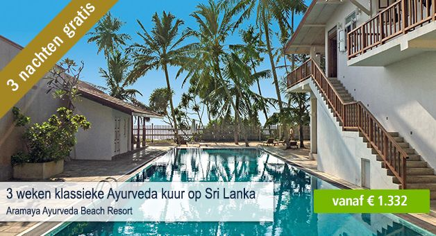 Bij een klassieke #Ayurveda kuur:  3 nachten gratis bij 3 weken boeken tot 31. augustus  Klik hier: https://www.spadreams.nl/aramaya-ayurveda-beach-resort-ambalangoda-zuidwest-kust-h75S/?p=75SP1NN