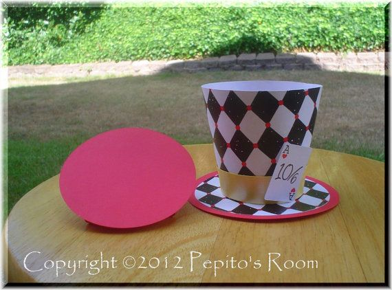 Welcome to Pepito's Room!    Alice In Wonderland Top Hat Centerpiece - Color Printable PDF- Mad Hatter    ►►► Want to buy more than one Top Hat