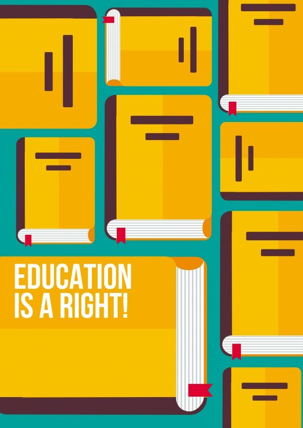Education is a right | DEMOCRACY DELIVERED | Send real postcards online | Democracy Delivered