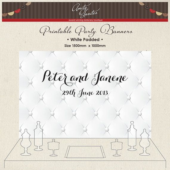 Printable Party Banner Buffet Candy Dessert Table by AmityInvites