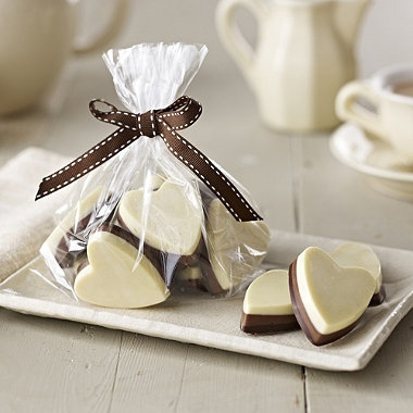 Chocolate hearts made using a mould from Lakeland.