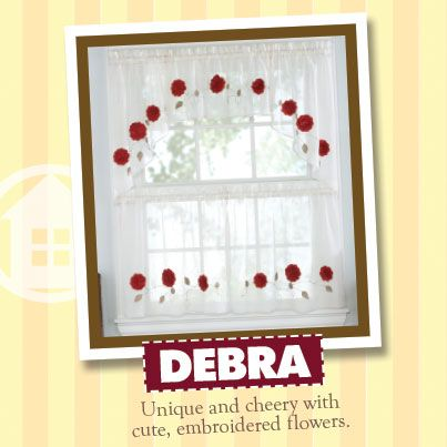 The Cute Embroidered Flowers On These Debra Tiers Give