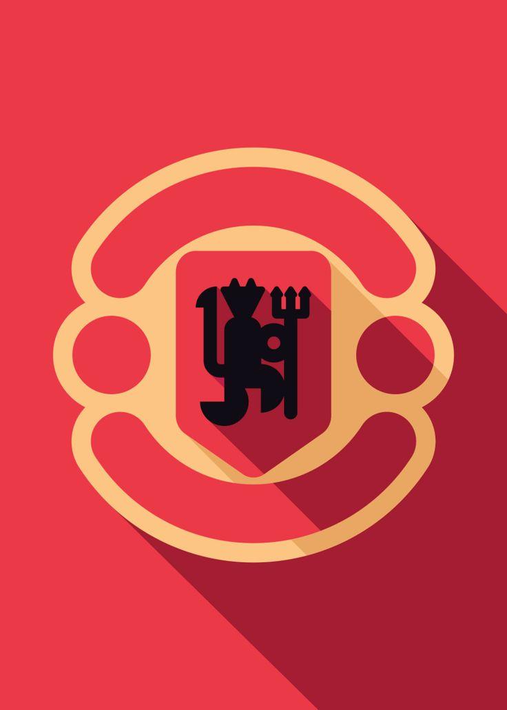Minimalist Manchester United   Futbol Artist Network