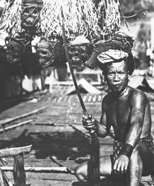Dayak Warrior Headhunter, Borneo 2 - WAR HISTORY ONLINE