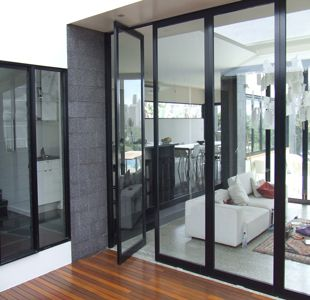 black aluminium joinery - Google Search