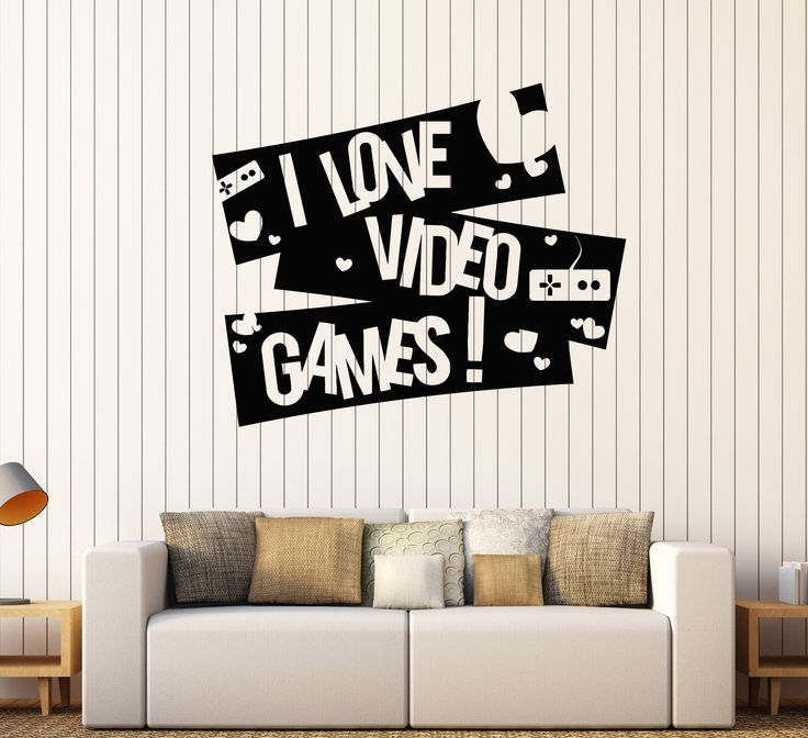 Vinyl Wall Decal Video Game Boy Room Gaming Quote Stickers (355ig)