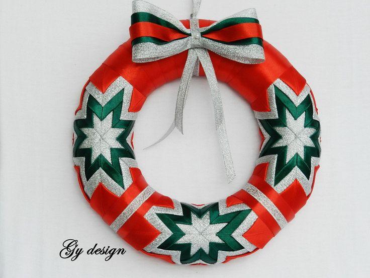 Verde guirnalda estrella de la Navidad guirnalda de oro por Gydesi