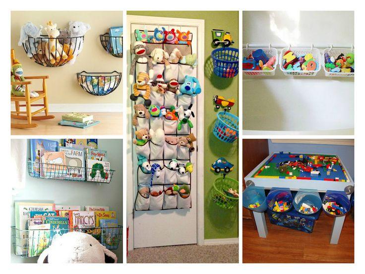 Организация хранения в детской комнате: корзины для игрушек