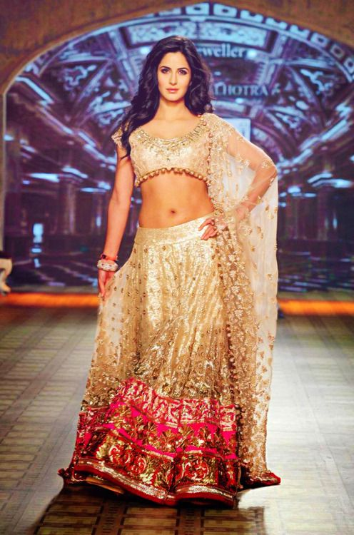 Katrina Kaif walks the ramp for Manish Malhotra at Delhi Couture Week.