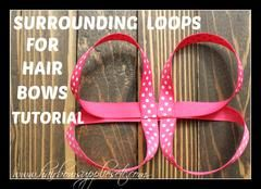 Free Hair Bow Tutorial videos! Over 50 free hair bow instructions videos to show you how to make hair bows! Simple, easy to follow instructions!