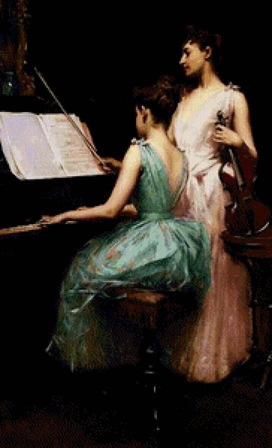 Дуэт скрипки и фортепиано, предпросмотр