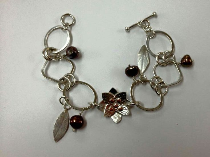 Beginners bracelet made at Made in Herts Studio