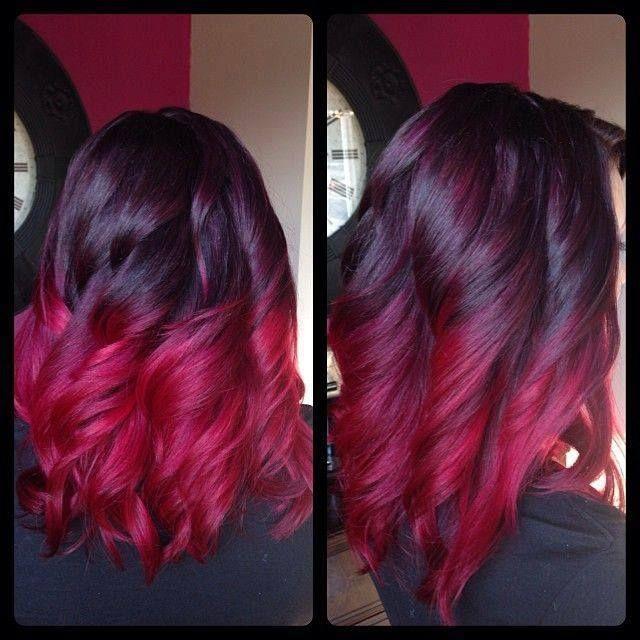 Beautiful hair burgundy wine to magenta pink hair pinterest burgundy wine magenta and wine - Ombre hair marron ...