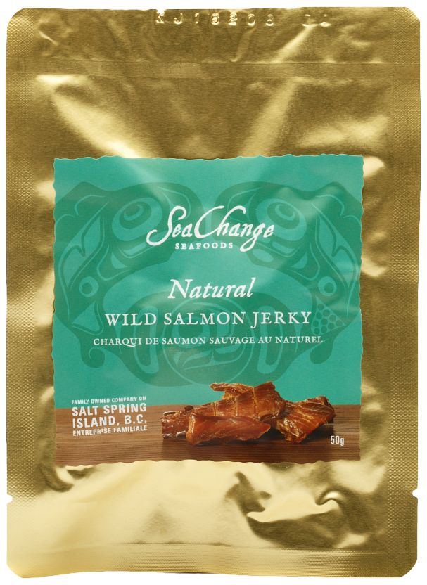 NEW - Natural Wild Salmon Jerky - SeaChange Seafoods - Unique Canadian Gifts